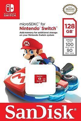 Genuine SanDisk Nintendo Switch 128 GB micro SD XC Card Flash Storage Memory USA