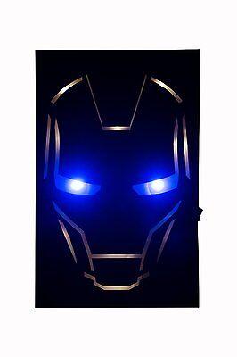 The Avengers Iron Man  LED Wall Light Globox Marvel Comics Brand New LIGHTS UP!!