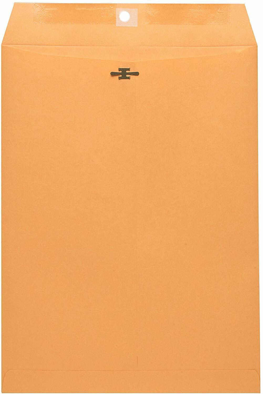 10 x 13 Clasp Envelopes - Brown Kraft Catalog Envelopes with