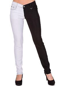 Half Black And White Pants - Jon Jean