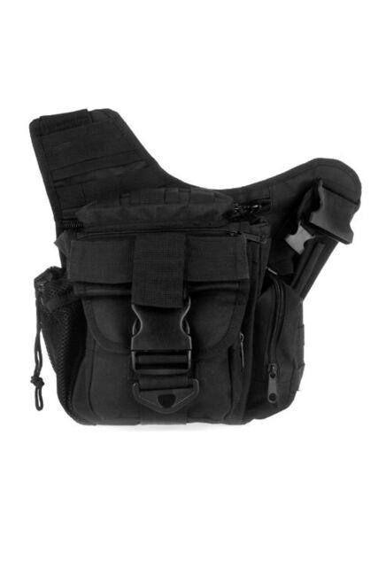 600D Nylon Molle Tactical Shoulder Strap Bag Backpack Camera Money Bag Black L3