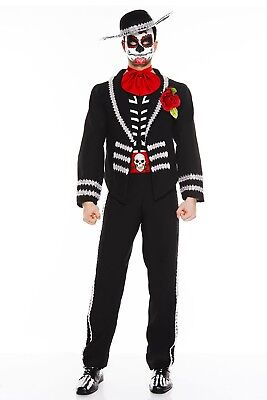 Music Legs Day of the Dead Miriachi, Mariachi Deluxe Halloween Costume Men's M/L ()