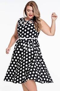 Black Polka Dot Print Flare Dress With Belt Size 20 Ascot Brisbane North East Preview