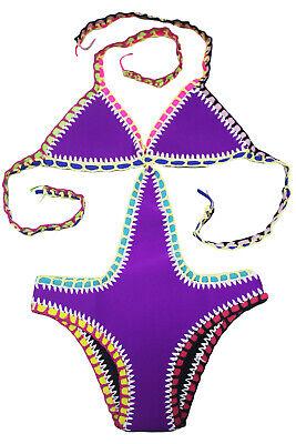 Bikini-Set Bademode Strick Bikini Strand Urlaub Größe XXL = 44 Mehrfarbig NEU #2