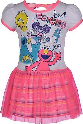 Sesame Street Toddler Girls' Dress Big Bird Abby Caddaby Cookie Monster and Elmo