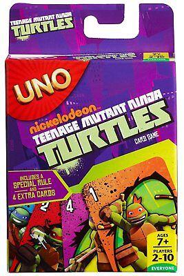 Teenage Mutant Ninja Turtles UNO Card Game Mattel TMNT Family Fun Shredder Raph](Ninja Turtle Family)