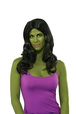 She-Hulk Wig Marvel Classic Fancy Dress Up Halloween Adult Costume - She Hulk Costume