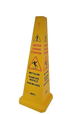 Caution Wet Floor Cone Public Safety 36 High 12 Width Yellow Commercial Warning