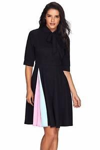 Red / Black False Slit Bow Tie Vintage Dress Size 10, 12, 16