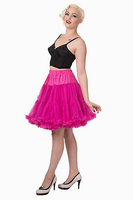 20 Inches Super Soft 1950's Light Petticoat Banned Apparel (Hot Pink Petticoat)