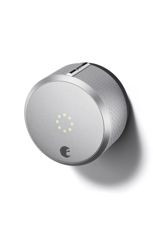 August Silver Smart Deadbolt Lock Alexa Nest Home Kit WiFi