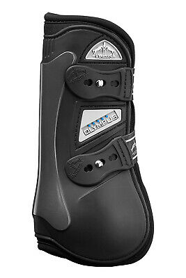 Veredus Olympus Black Open Front Jumping Horse Boots - all sizes Open Front Horse Jumping Boots