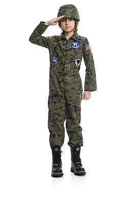 Boys Seal Team Six 6 Military Camo Navy Fancy Dress Halloween Child Costume (Navy Seal Costume)