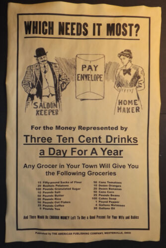Which Needs It Most? Prohibition Poster, Vote Dry, 11x17