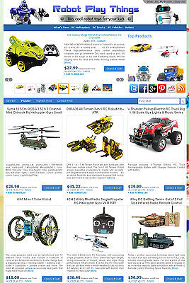 Ebay Amazon Commission Junction Affiliate Website - Robot Toys Store