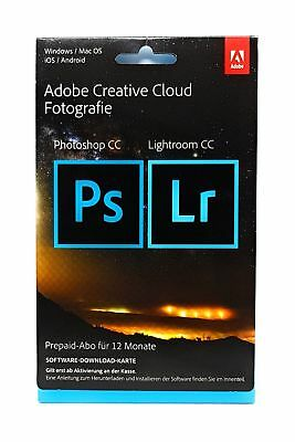 Adobe Creative Cloud Foto Photoshop Lightroom CC 20GB 1 Jahr Key Download