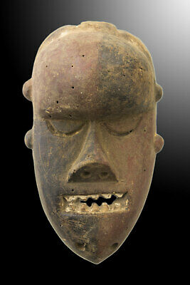 Mask Pasport Diminutive African Salampasu DRC Wood 14cm Art First 16692