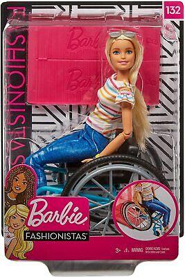 Barbie Rueda Silla Rubia Silla de Ruedas y Rampa