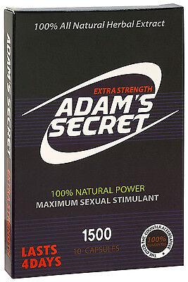 Adam's Secret Male Enhancement Pills Men Sexual Performance Enhancer 1500 10pill (Male Sexual Enhancement Pill)