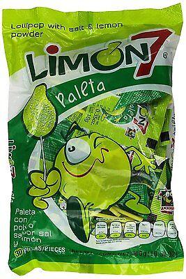 Limon 7 Paleta Paletas Lollipops 30 Pcs Salt and Lemon Coated Mexican Candy](Salt Candy)