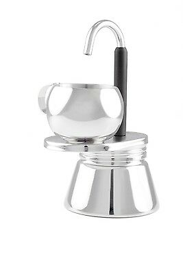 GSI Outdoors Glacier 1 Cup Personal Stainless Steel Mini Espresso Coffee Maker Gsi Outdoors Cup