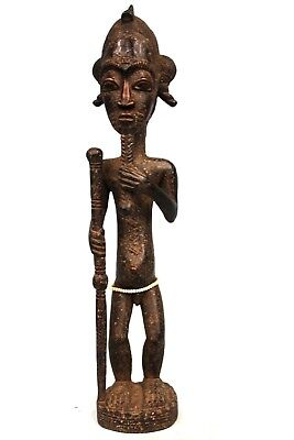 Art African - Fetish Asia Usu Baoulé - Sculpture TOP - Details Fabulous 40 Cm