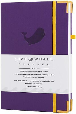 Live Whale Planner Weekly Monthly Planner. 8.3x5.8 A5 Personal Organizer