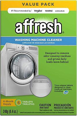 Affresh W10501250 Washing Machine Cleaner, 6 Tablets: Cleans Front Load and Top