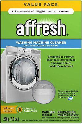 Affresh Finally Fresh Washing Machine Cleaner 5 Tablets, White, 5 Count powder