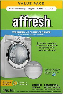 Washing Machine Cleaner, 6 Tablets:  Including HE,White