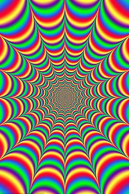FRACTAL ILLUSION POSTER - 24x36 SHRINK WRAPPED - TRIPPY 4056