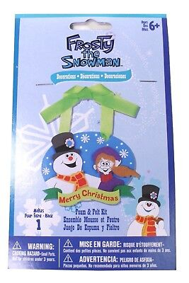 FROSTY THE SNOWMAN Craft Kit Decoration Makes 1 Kids Crafts Holiday - Darice Holiday Decor Ornament