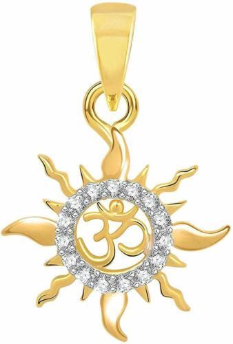 Sterling Silver Om Surya Lord Sun Ohm Locket God Pendant For Men & Women