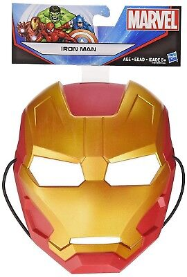Marvel Iron Man Mask by Hasbro - Durable Thick Plastic w/Extra Thick Head Strap - Mlp Halloween Special