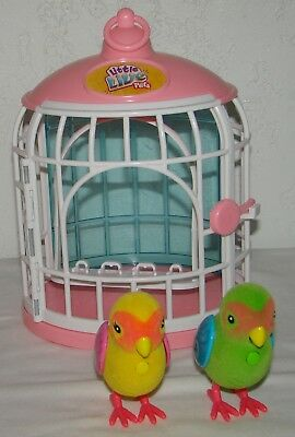 Little Live Pets My Love Birds Romeo & Juliet Sing Interative Cage