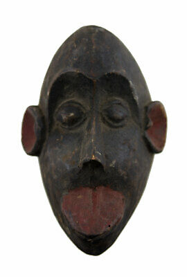Mask African Masquette Monkey Bulu Gabon 14.5 cm Miniature Art First 16833