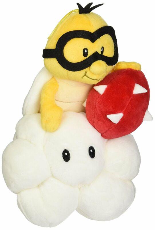 "Little Buddy Toys Nintendo Super Mario Lakitu 8"" Stuffed Plush Authentic USA"