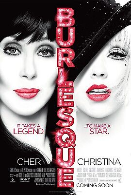 Burlesque Movie Poster - Cher Poster - Christina Aguliera Poster