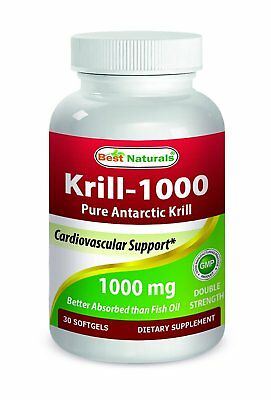 Best Naturals Krill Oil 1000 mg 2x Strength 30 (Best Krill Oil 1000mg)