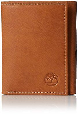 564dcf85a8e Timberland Cloudy Passcase Tan Genuine Leather Credit Card Trifold Men  Wallet