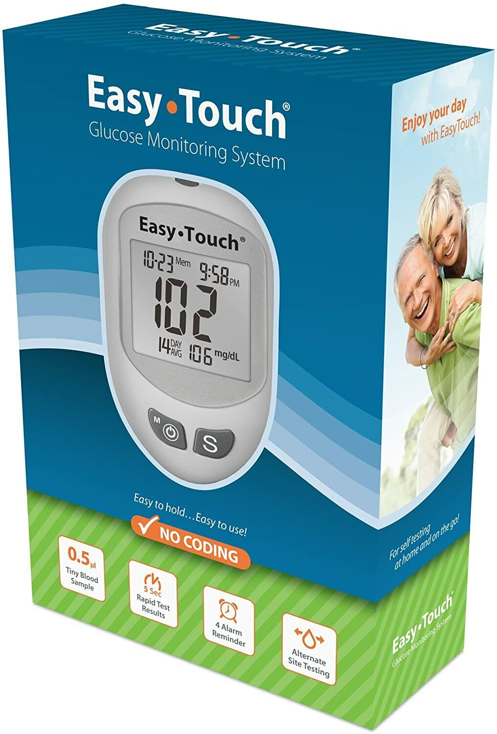 Easy Touch Blood Glucose Meter Monitor