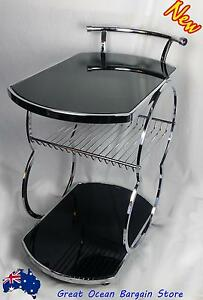 Coaster Kitchen Chrome Metal Serving Cart Food Tea Coffee Wine Chipping Norton Liverpool Area Preview