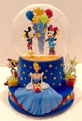Disney & Hallmark 2001 Walt Disney 100th Musical Birthday Snowglobe Walt's - Birthday Snow Globes