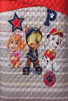 Paw Patrol Puppy Dog Twin/Full Quilt and Sham Set, Quilted Comforter