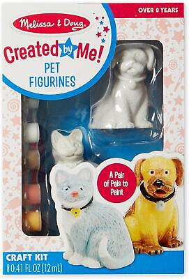 Melissa & Doug 8866 Decorate-Your-Own Pet Figurines Craft Kit - Paint Cat & Dog Own Pet Figurines