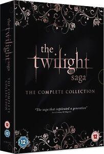 THE TWILIGHT SAGA Complete 1 2 3 4 5 Film Collection Boxset NEW DVD