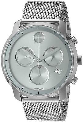 Movado Bold Stainless Steel Mesh 44MM Quartz Chronograph Watch 3600371