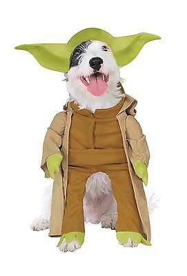 Yoda Dog Costume Pug (Rubies Costume Star Wars At-At Pet Costume Yoda With Arms (Small) NEW with)
