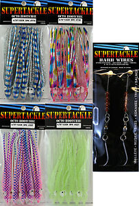 4-X-20-SUPERTACKLE-Octopus-Hootchie-Downrigger-Salmon-Fishing-Lures-NINJAS