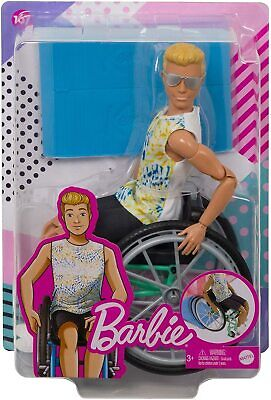 Barbie Fashionista ~ Ken Doll With Wheelchair and Ramp #167